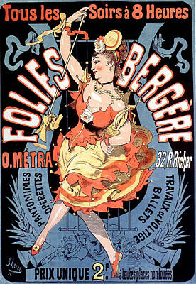 Drawing - Folies Bergere Vintage French Advertising by Vintage French Advertising
