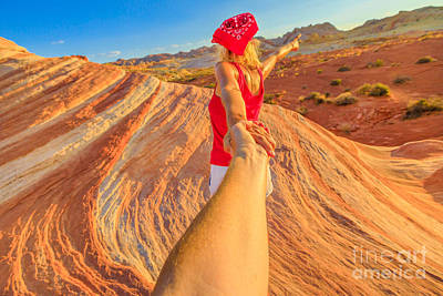Photograph - Follow Me In Valley Of Fire by Benny Marty