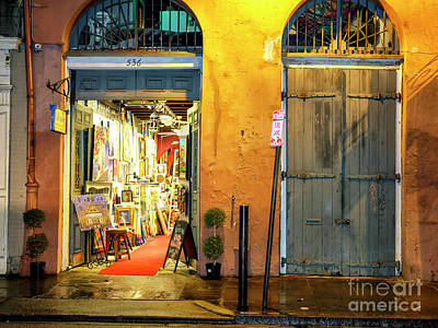 Photograph - Follow The Red Carpet At Night New Orleans by John Rizzuto