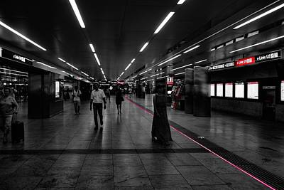 Photograph - Follow The Red Line by Michael Nguyen