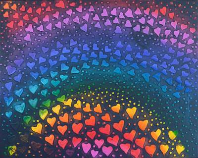 Painting - Follow Your Heart To Happiness by Amelie Simmons