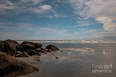Photograph - Folly Beach - Silky Waters by Dale Powell