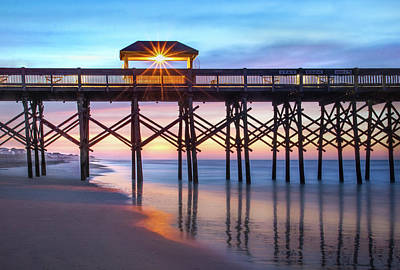 Photograph - Folly Pier At Sunrise by James Woody