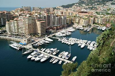 Photograph - Fontvieille Harbour In Monaco by David Birchall