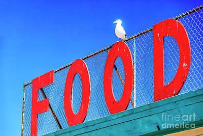 Photograph - Food Sign At Zuma Beach by John Rizzuto