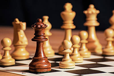 Photograph - Fool's Mate Checkmate Fastest Possible Checkmate Queen by Toby McGuire
