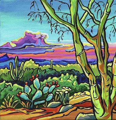 Painting - Foothills Sunset by Alexandria Winslow