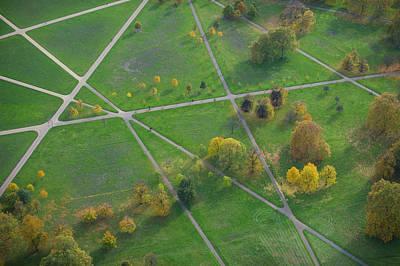 Hyde Park Wall Art - Photograph - Footpaths Across Hyde Park, London by Jason Hawkes