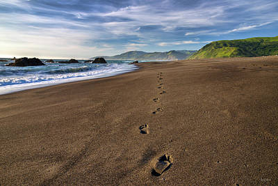 Photograph - Footprints In Sand 2 by Leland D Howard