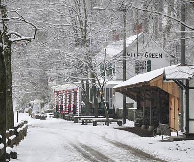 Photograph - Forbidden Drive Winter - Valley Green Inn by Bill Cannon