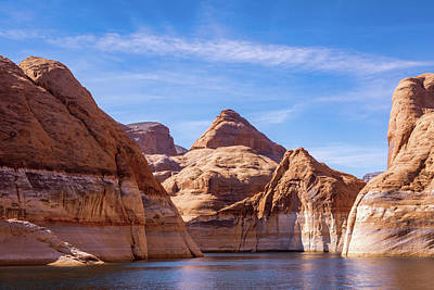 Comic Character Paintings - Forbidding Canyon Route to Rainbow Bridge - Lake Powell by Debra Martz