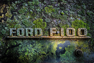 Photograph - Ford F-100 Emblem by Debra and Dave Vanderlaan
