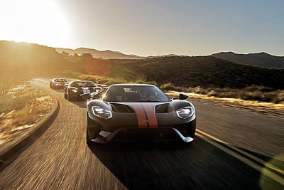 Photograph - Ford Gt Trio by Drew Phillips