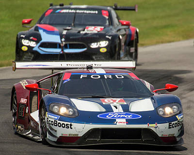 Photograph - Ford Gt Vs Bmw M8 by Alan Raasch