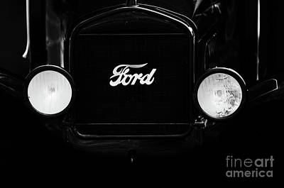 Photograph - Ford Model T Lights by Dale Powell