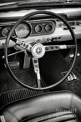 Photograph - Ford Mustang Dashboard  by Olivier Le Queinec