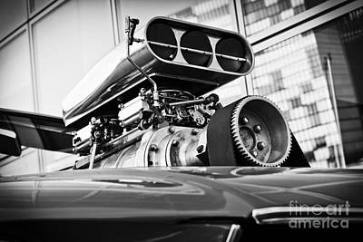 Photograph - Ford Mustang Vintage Motor Engine by Jesse Watrous