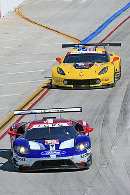 Sports Royalty-Free and Rights-Managed Images - Ford vs Chevy by Shoal Hollingsworth
