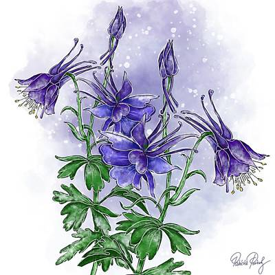 Painting - Forest Columbine by Patricia Piotrak