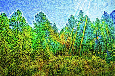 Digital Art - Forest In Light by Joel Bruce Wallach