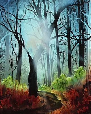 Painting - Forest Light Show by Sandra Day