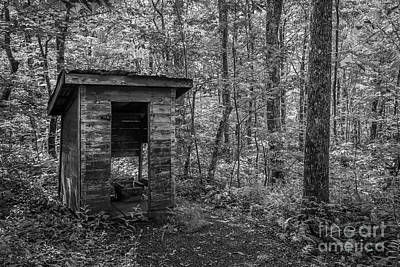 Photograph - Forest Outhouse by Tom Claud