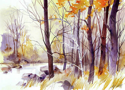 Painting - Forest Pond by Art Scholz