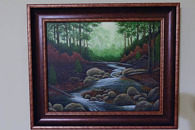 Painting - Forest Stream by Gloria Johnson