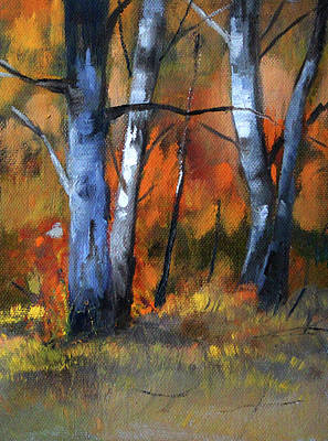 Painting - Forest Trees 2 by Nancy Merkle