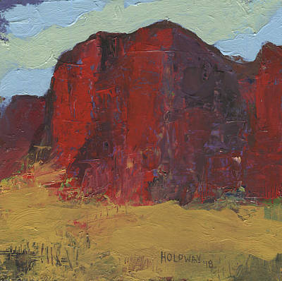 Painting - Glowing Rock by John Holdway