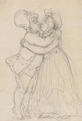 Drawing - Forgiving Lovers by Thomas Rowlandson