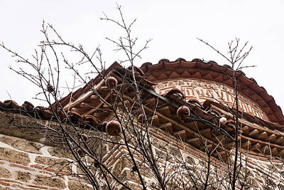 Photograph - Forgotten Fruit - Pomegranates And Byzantine Church Fabulous Brickwork by Georgia Mizuleva