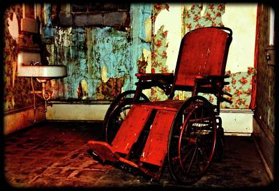 Rights Managed Images - Forgotten Wheelchair Royalty-Free Image by Constance Lowery