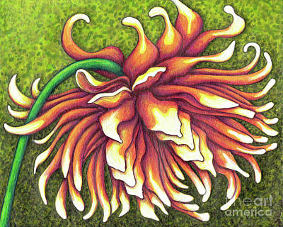 Painting - Formal Decorative Dahlia by Amy E Fraser