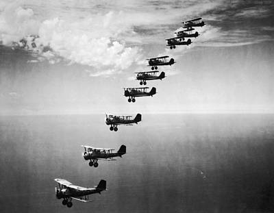 Photograph - Formation Bombers by Hulton Archive
