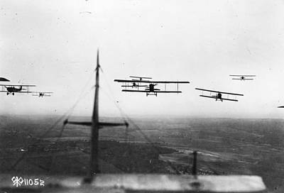 Formation Flying Art Print by Hulton Archive