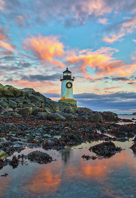 Photograph - Fort Pickering Light  by Juergen Roth