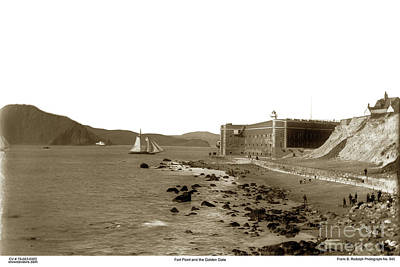 Photograph - Fort Point And The Golden Gate Circa 1887 by California Views Mr Pat Hathaway Archives