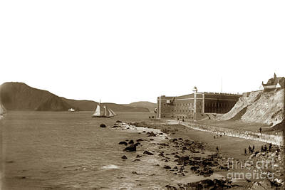 Photograph - Fort Point, Beach, Sailing Ship In Channel Of The Golden Gate.  by California Views Mr Pat Hathaway Archives
