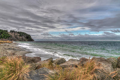 Photograph - Fort Worden State Park Beach by Spencer McDonald