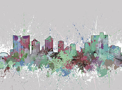 Digital Art - Fort Worth Skyline Artistic Pastel by Bekim Art