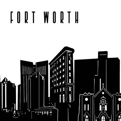 Digital Art - Fort Worth Skyline Panorama by Bekim Art