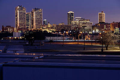 Photograph - Fort Worth Skyline V2 013119 by Rospotte Photography