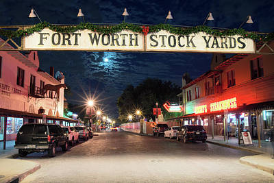 Photograph - Fort Worth Stock Yards 112118c by Rospotte Photography