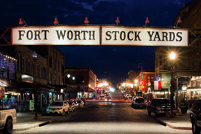Photograph - Fort Worth Stock Yards 112318 by Rospotte Photography