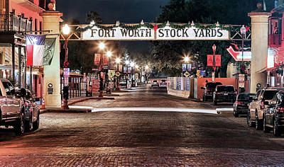 Photograph - Fort Worth Stock Yards by JC Findley