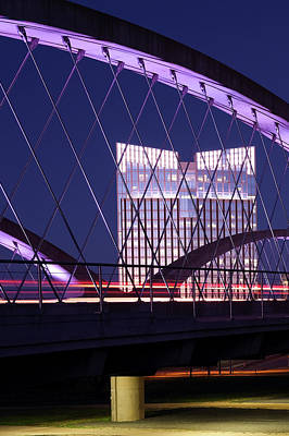 Photograph - Fort Worth West Seventh Street Bridge V2 021419 by Rospotte Photography
