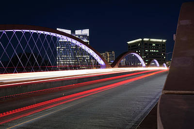 Photograph - Fort Worth West Seventh Street Bridge V4 031319 by Rospotte Photography