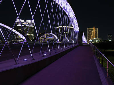Photograph - Fort Worth West Seventh Street Bridge V5 031319 by Rospotte Photography