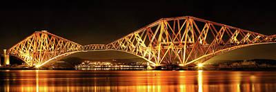 Photograph - Forth Railway Bridge - Night by Grant Glendinning